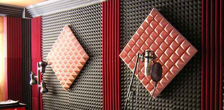 soundproof garden shed with acoustic foam panels