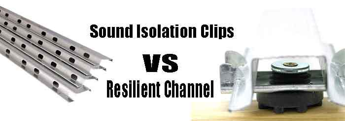Sound Isolation Clips vs Resilient Channel