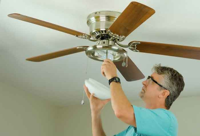Tighten Loose Parts And Fan's Mount
